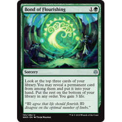 Magic löskort: War of the Spark: Bond of Flourishing