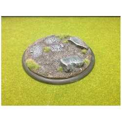 Scattered Stone/Broken Road Base Insert/Topper For 120mm Round Lipped Bases (1)