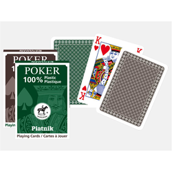 Piatnik Poker Plastic Green (kortlek)