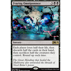 Magic löskort: Core Set 2019: Fraying Omnipotence
