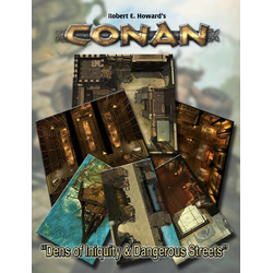 Conan RPG: Dens of Iniquity & Streets of Terror Geomorphic Tile Set