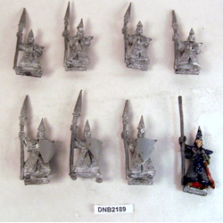 Dark Elf Warriors med Standard Bearer (Metall, 8st)