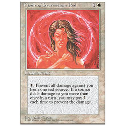 Magic löskort: 4th Edition: Circle of Protection: Red