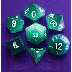 Metallic Dice: Cat's Eye Mint Green (7-die set)