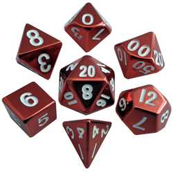Metallic Dice: Red (Solid Metall)