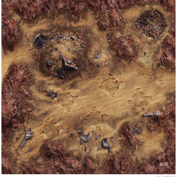 Star Wars: Legion Game Mat Desert Junkyard 3x3 ~ 91,5x91,5cm (Mousepad)