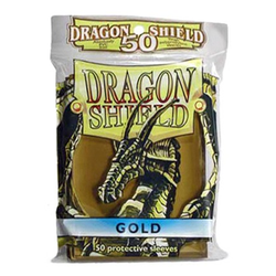 Dragon Shield Sleeves - Standard Gold (50 ct. in bag)