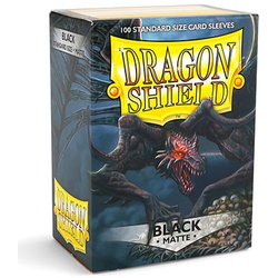 Dragon Shield Sleeves - Standard Matte Black (100 ct. in box)