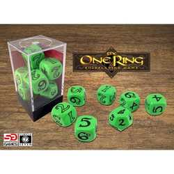 The One Ring: Dice Set Green