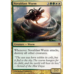 Magic löskort: Worldwake: Novablast Wurm