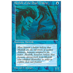 Magic löskort: 4th Edition: Merfolk of the Pearl Trident