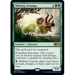 Magic löskort: Core Set 2020: Shifting Ceratops