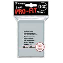 Ultra Pro Deck Protector Sleeves Pro-Fit Small 60x87mm (100)