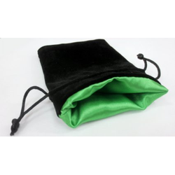 "5"" x 8"" Velvet Bag Green inside/Black outside"