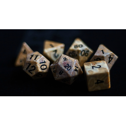 Metallic Dice: Coral Fossil (7-die set)