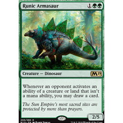 Magic löskort: Core Set 2019: Runic Armasaur