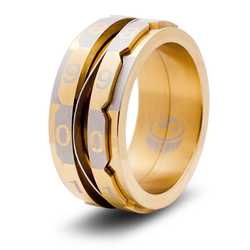 Dice Ring: The Life Counter Ring (Size 8,5, gold)