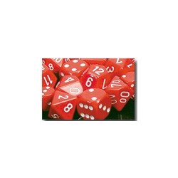 Opaque: Red/white (36-dice set)