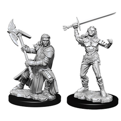 Nolzur's Marvelous Miniatures (unpainted): Female Half-Orc Fighter