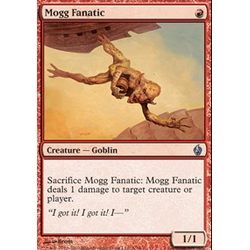 Magic Löskort: Premium Deck - Fire and Lightning: Mogg Fanatic (Foil)