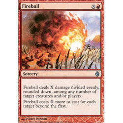 Magic Löskort: Premium Deck - Fire and Lightning:Fireball (Foil)