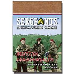 Sergeants Miniature Game: Commonwealth Parachute Lee-Enfield Rifle Leader