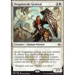 Magic löskort: Fate Reforged: Dragonscale General (Intropack Foil)