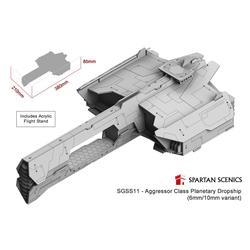 Aggressor Class Planetary Dropship (6mm/10mm variant)