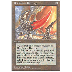 Magic löskort: 4th Edition: Red Mana Battery
