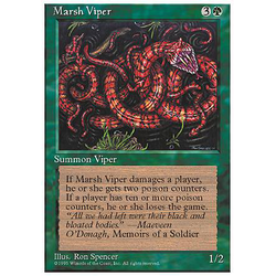 Magic löskort: 4th Edition: Marsh Viper
