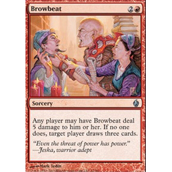 Magic Löskort: Premium Deck - Fire and Lightning:Browbeat (Foil)