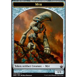 Magic löskort: Battlebond: Myr Token