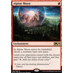Magic löskort: Core Set 2019: Alpine Moon
