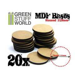 MDF Bases Round 32mm (20)