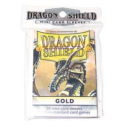 Dragon Shield Sleeves - Mini Gold (50 ct. in bag)