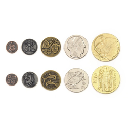 Metal Coins Greek (50 st)
