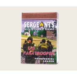 Sergeants Miniature Game: US Paratrooper M1A1 Thompson Leader