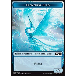 Magic löskort: Core Set 2020: Elemental Bird Token