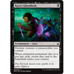 Magic löskort: War of the Spark: Kaya's Ghostform