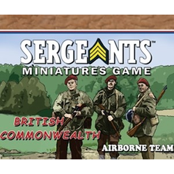 Sergeants Miniature Game: Commonwealth Parachute Airborne Team