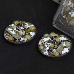 Battle Ready Bases - Winter 60mm Round (2)