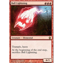 Magic Löskort: Premium Deck - Fire and Lightning: Ball Lightning (Foil)