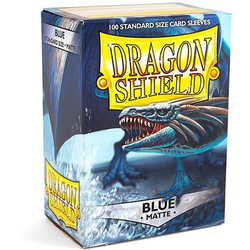 Dragon Shield Sleeves - Standard Matte Blue (100 ct. in box)