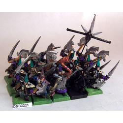 Dark Elf Black Ark Corsairs med Full Command (metall, 15)