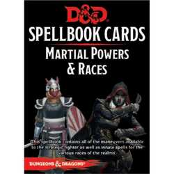 D&D 5.0: Spellbook Cards - Martial Powers & Races (2018 Ed.)