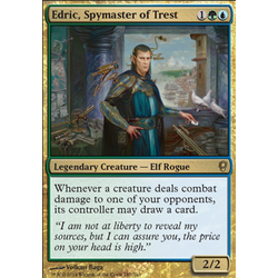 Magic löskort: Conspiracy: Edric, Spymaster of Trest
