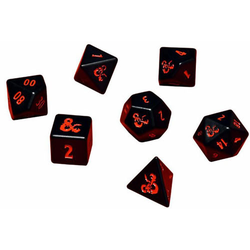 Ultra Pro Heavy Metal 7 RPG Dice Set for D&D