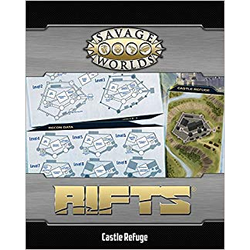 Savage Worlds RPG: Rifts Map - North America / Castle Refuge