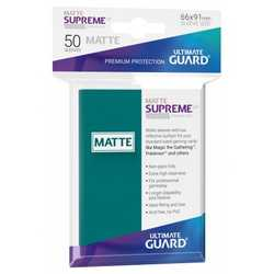 "Card Sleeves Standard ""Supreme UX"" Matte Petrol Blue 66x91mm (50) (Ultimate Guard)"