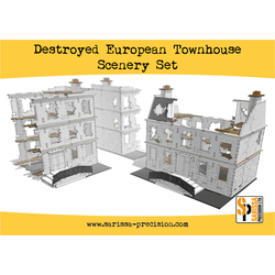Warlord Scenery: Destroyed European Townhouse Scenery Set